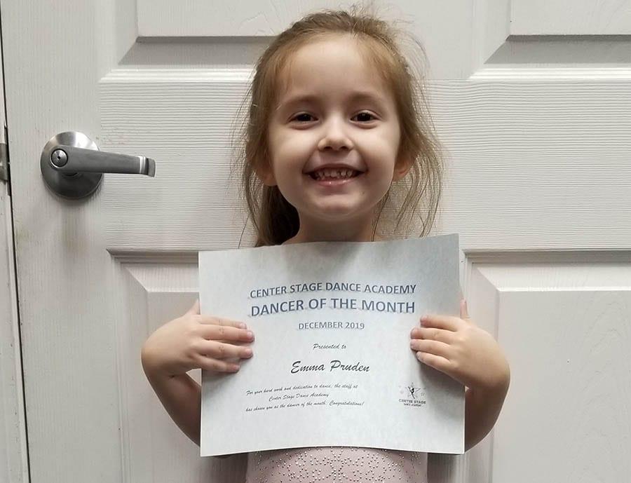 December 2019 Dancer of the Month!