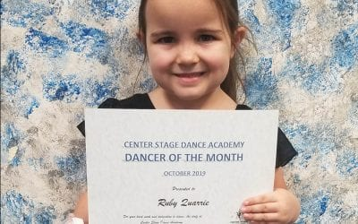 October 2019 Dancer of the Month!